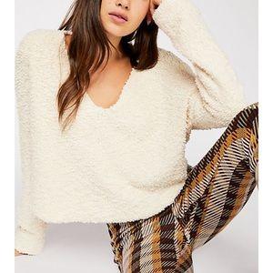 Free People Popcorn Sweater in Cream